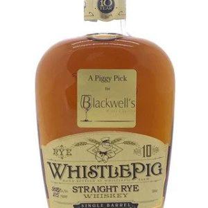 "Whistlepig 10 Year Old Cask Strength ""Blackwell's Piggy Pick"" Rye Whiskey - Sendgifts.com"