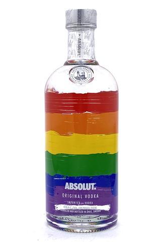 "Absolut Colors Vodka V4 750 ml Limited Edition ""Rainbow Bottle"""