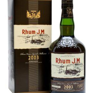 Rhum JM Vintage 2003 10 Years Old Rhum Agricole Martinique Aged Rum